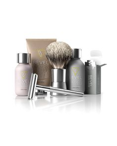 Bevel Shave Kit - Large Kit, Includes Safety Razor, Shave Cream, Oil, Balm and 60 Blades. Clinically Tested to Help Prevent Razor Bumps Shaving Oil, Shaving Razor, Shaving Brush, Shaving Cream, Men Shaving, Shaving & Grooming, Grooming Kit, Razor Bumps, Pre Shave