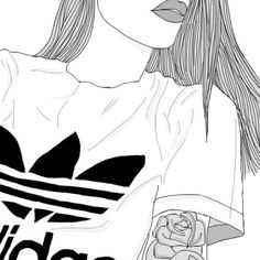 Adidas discovered by mishu on we heart it drawings ✍ en 2019 Tumblr Girl Drawing, Cute Girl Drawing, We Heart It Dibujos, Adidas Drawing, Girl Outlines, Hipster Girls, Cute Girl Wallpaper, Nature Drawing, Photography Poses For Men