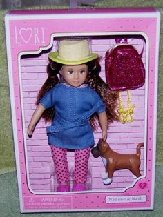 Lori-by-Our-Generation-Nadene-6-Brunette-Doll-Nash-her-Puppy-New