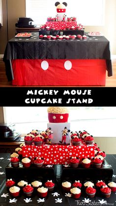 DIY Mickey Mouse Cupcake Stand for a Mickey Mouse Birthday Party