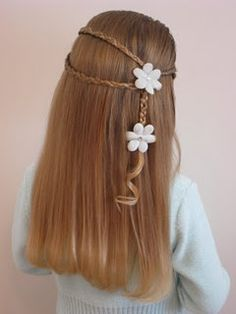 Wrap around with little braids and flower clips