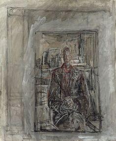 Alberto Giacometti: Diego Seated in the Studio (1950)