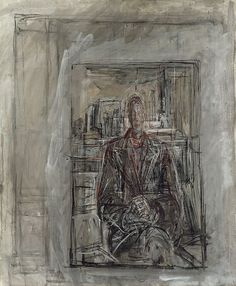 Alberto Giacometti: Diego Seated in the Studio (1950)