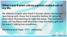 Random acts of kindness - When I was 8 years old my parents walked out of my life.