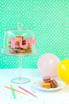DIY Stenciled Cake Dome