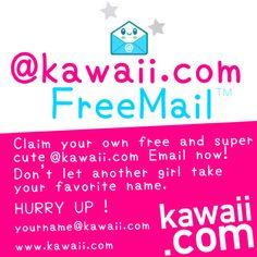kawaii.com FreeMail ! claim your name before another girl takes it ! #kawaii #cosplay #harajukugirl #harajuku #原宿ファシオン #原宿 #かわいい