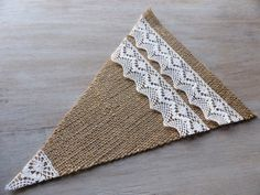 Big bunting burlap flags elements / pennants / by domekdecor, $1.50