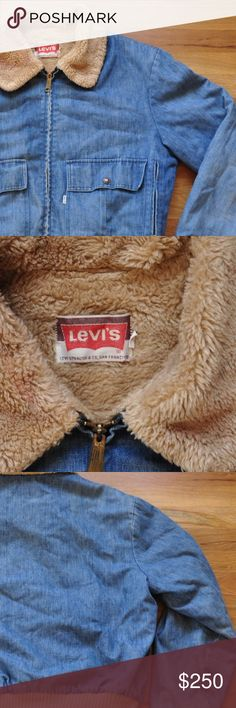 RARE Vintage 60/70 Levi's Bomber Jacket XL Amazing and sold out vintage Levi's Bomber/aviator jacket. Size XL. This coat is very comfortable and cannot b found anywhere else at the moment. Cuffs on sleeves do have some pilling and normal vintage wear. Coat is Sherpa lined Levi's Jackets & Coats Bomber & Varsity
