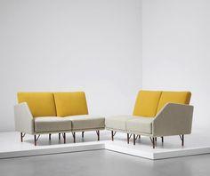 PHILLIPS : UK050115, Finn Juhl, Rare modular four-seater sofa set Bovirke model-53