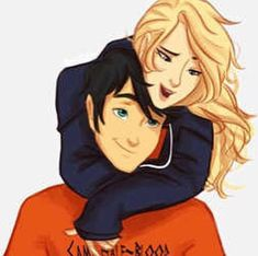 PJO - Percy Jackson x Annabeth Chase - Percabeth Percy Jackson Fan Art, Percy Jackson Fandom, Percy Jackson Couples, Percabeth, Solangelo Fanart, Rick Riordan, Percy Y Annabeth, Oncle Rick, Wise Girl