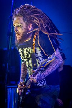 Nu metal band Korn performs in concert at Stubbs BBQ on October 19 2015 in Austin Texas
