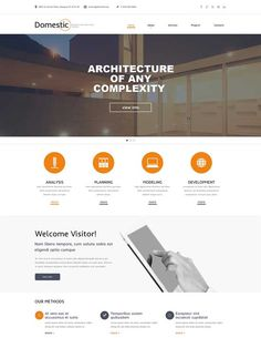 website design template content | Domestic – Construction Company Responsive Website Template