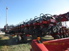 All 32 rows  that makes up the CaseiH 1245 planter