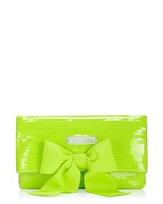 Juicy Couture Lime Green Sparkle Clutch