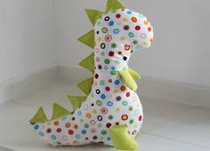 Personalized baby gift Dinosaur soft toy disnosaur by TinyKooka