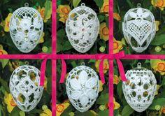 jajka plastikowe 9,5 cm Crochet Christmas Ornaments, Christmas Crafts, Christmas Decorations, Holiday Decor, Snowflakes, Tatting, Gems, Design, Home Decor