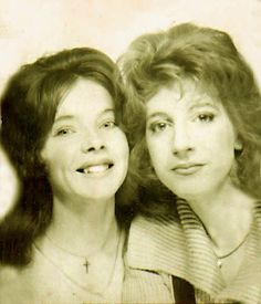 1958. Vintage photo booth. Looks like Laverne and Shirley!