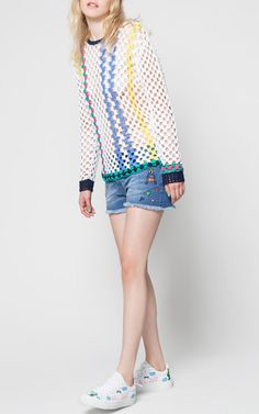 Rainbow Sneakers by MIRA MIKATI for Preorder on Moda Operandi