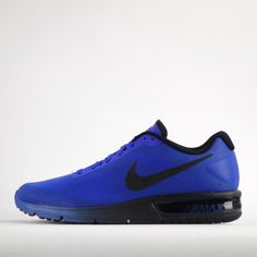 Nike Air Max Sequent Mens Running Trainers Shoes Sneakers Blue/Black #Nike #RunningTrainersShoes
