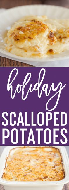 Scalloped Potatoes - A classic dish and holiday staple! This easy homemade recipe comes together quickly and is wonderfully rich and cheesy. via @browneyedbaker