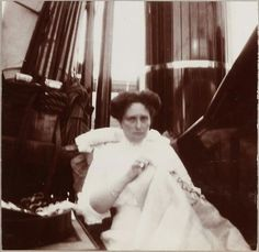"""Empress Alexandra Feodorovna of Russia on board the Imperial Royal yacht, The Standart.  """"AL"""""""
