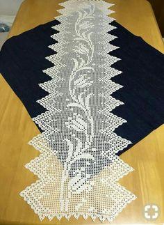 Crochet Table Runner, Crochet Tablecloth, Crochet Doilies, Doily Patterns, Baby Knitting Patterns, Crochet Patterns, Crochet Home, Free Crochet, Knit Crochet