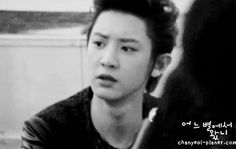 Like he can be sad but then...nevermind - Happy Virus Chanyeol (gif)