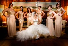 Amanda's six bridesmaids all chose their own style of our gold sequin dresses for her New Year's themed wedding! These beautiful photos were captured by Nick and Kelly Photography, featured on Smashing the Glass!