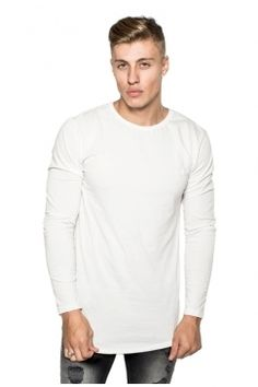 Judas Sinned - Long Sleeve Super Stretch Crew T-Shirt - White | Turn to Judas Sinned for distinctive designs in premium interest fabrics. Shop the full collection now @ Urban Celebrity!