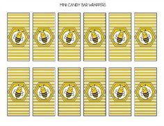 Free Bumble Bee Mini Candy Bar Wrappers #bumblebee #minicandybar