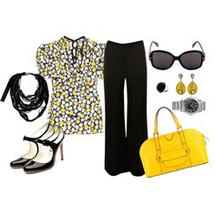 yellow & black, created by thenapgirl.polyvore.com