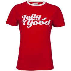 Eira 'Jolly Good' T-Shirt | Moda Operandi ($57) ❤ liked on Polyvore featuring tops, t-shirts, shirts, t shirt, red tee, crew-neck shirts, red shirt, crew t shirt and short-sleeve shirt