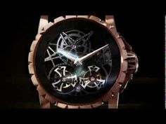 Excalibur skeleton double flying tourbillon vídeo em Presentwatch