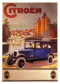 Affiche ancienne automobile Citroën                                                                                                                                                                                 Plus