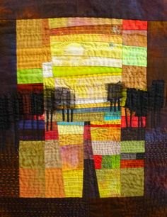 30 October 2013 : Pieced Landscapes with Ineke Berlyn - The Bramble Patch Fiber Art Quilts, Textile Fiber Art, Textile Artists, Quilt Art, Art Fibres Textiles, Landscape Art Quilts, Quilt Studio, Quilt Modernen, Thread Painting