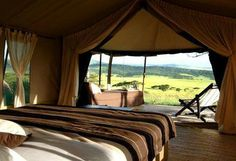 Book your safari accommodation in Tanzania's Serengeti National Park with Rhino Africa - the East African safari specialists Glam Camping, Camping Glamping, Rhino Africa, Temporary Structures, Serengeti National Park, Bell Tent, Yard Design, Tanzania, Lodges
