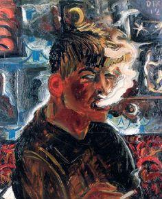 Otto Dix - Selbstbildnis (1913) als Raucher