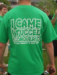 "USC DZ Turtle Tug-- ""I came, I tugged, I conquered"" #deltazeta"