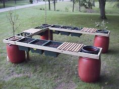 Elevated patio garden with extensions! Elevated patio garden with extensions! Elevated Garden Beds, Raised Garden Bed Plans, Raised Beds, Potager Bio, Sensory Garden, Raised Planter, Veg Garden, Garden Paths, Garden Planning