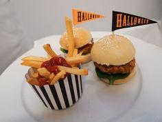 Pumpkin & brown rice burgers