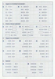 Gyere mesélj! - Képgaléria - Sulis feladat lapok (alsó tagozat) - Kiszámoló 4. osztály Math Games, Free Stuff, Elementary Schools, Nintendo, Education, Math Activities, Primary School, Onderwijs, Learning