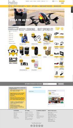 Sito web eCommerce per iWaboo Milano - HomePage - Realizzato con Shoopify - Anno 2013