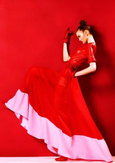 pink and red #high #fashion