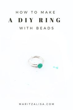 If you love making DIY Rings with a boho flair, try this easy DIY Beaded Ring tutorial. Your handmade ring will be perfect for any occasion or even to give as a gift! Diy Beaded Rings, Diy Rings, Silhouette Curio, Silhouette Cameo Projects, Jewelry Making Tutorials, Craft Tutorials, Diy Jewelry, Beaded Jewelry, Jewelry Rings