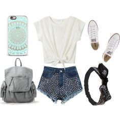 Outfift + Phone Case,Bag And Accesory. by stellagirlhey on Polyvore featuring Chicnova Fashion, Converse and Wet Seal