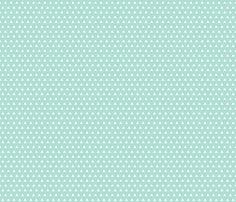 aqua triangles // small  fabric by ivieclothco on Spoonflower - custom fabric