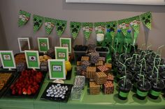 Minecraft party Theme Parties, Party Themes, Minecraft Party, Holiday Decor, Home Decor, Themed Parties, Decoration Home, Room Decor, Interior Decorating