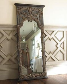 I love this mirror, mix it in with some boho textures and it will reduce the shabby chic feel.