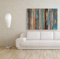 Reclaimed wood becomes a modern art piece