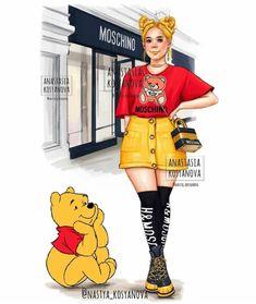 Cute Disney Drawings, Disney Princess Drawings, Disney Princess Pictures, Disney Characters As Humans, Princesse Disney Swag, Disney Princess Fashion, Modern Princess, Cute Disney Wallpaper, Digital Art Girl